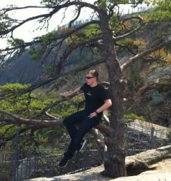 Jarrett on the rock