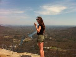 Lindsay on the rock